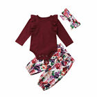 FixedPricecanis newborn infant baby girl tops romper floral pants headband outfits clothes