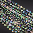 NEW Natural Abalone Shell Loose Beads Jewelry Making Craft Top Stone Charm