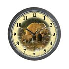 CafePress Grizzly Bear And Cub Unique Decorative 10 Wall Clock (1381134034)
