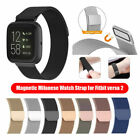 For Fitbit Versa/Versa 2/LITE Strap Milanese Wrist Band Stainless Steel Magnetic image