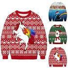 Ugly Couples Christmas 3D Print Sweater Sweatshirt Xmas Pullover Jumper Tops US