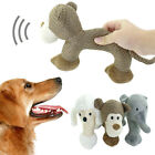 Interactive Plush Dog Squeaky Toys Pet Puppy Chew Toy Dog/Leopard/Elephant Shape