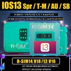 For iOS13 R-SIM 14 V18 12 V16 Nano Unlock RSIM-Card For iPhone For AU SB Spr T-M
