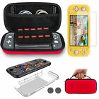 For Nintendo Switch Lite Carrying Case Bag+Shell Cover+Tempered Glass Protector