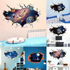 Au Space Stars Planets Moon 3d Wall Mural Wall Art Stickers Home Room Decoration