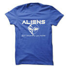 ALIENS DON'T BELIEVE IN YOU EITHER Gym Rabbit Funny Design Cotton T-Shirt E158