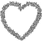'Flower Heart' Rubber Stamp (RS000257)