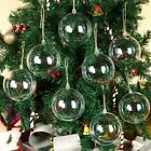 Купить 10-100X Clear Plastic Christmas Balls Baubles Sphere Fillable Xmas Tree Ornament