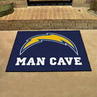 "Los Angeles Chargers Man Cave Area Rug Choose 19""x 30"" 34""x 43"" 5'x6' 5'x8' $46.78 USD on eBay"