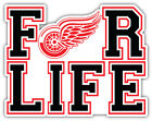 """Detroit Red Wings For Life NHL Sport Car Bumper Sticker Decal """"SIZES'' $4.25 USD on eBay"""
