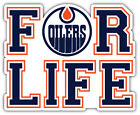 "Edmonton Oilers For Life NHL Sport Car Bumper Sticker Decal  ""SIZES'' $4.25 USD on eBay"
