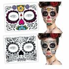 1x Day Of The Dead Halloween Face Makeup Tattoo Sticker 4 Patterns To Choose New $4.85 USD on eBay