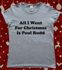 Christmas Paul Rudd Fan Ladies T-Shirt