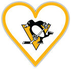 "Pittsburgh Penguins Heart NHL Sport Car Bumper Sticker Decal  ""SIZES"" $4.25 USD on eBay"
