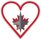 "Winnipeg Jets Heart NHL Sport Car Bumper Sticker Decal  ""SIZES"" $3.75 USD on eBay"