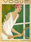 Vogue Cover Fashion Lady Tennis Sport Designs 1927 Vintage Poster Repro FREE SH