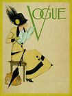 Vogue Cover Fashion Lady Reading Map Travel Trip Vintage Poster Repro FREE SH