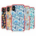 MICKLYN LE FEUVRE PATTERNS 2 RED SHOCKPROOF BUMPER CASE FOR APPLE iPHONE PHONES