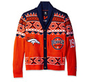 KLEW NFL Men's Denver Broncos 2015 Holiday Ugly Cardigan Sweater $49.99 USD on eBay