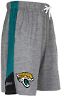 Zubaz NFL Football Mens Jacksonville Jaguars Gray Space Dye Solid Stripe Shorts $24.99 USD on eBay