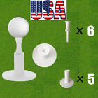 Golf Rubber Tees Range Driving Practice Mat Holder 5 Pack With 6 Pcs Castle Tee