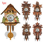 Handcraft Wooden Cuckoo Bird Clock House Style Wall Clock Vintage Home Decor AU