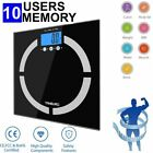 TANBURO LCD Digital Bathroom Body Weight Scale Tempered Glass 400lb W/ Batteries