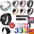 US Replacement Silicone Milanese Stainless Steel Watch Band For Fitbit Versa mr