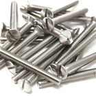 M3.5 ELECTRICAL FRONT PLATE SCREWS M3.5 x 50mm BRIGHT ZINC PLATED SLOTTED SCREWS