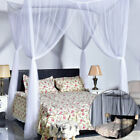 Bed Canopy Mosquito Net Large King Queen Full Bed 4Corner Curtain Insect Protect image