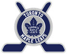 "Toronto Maple Leafs Sticks Logo NHL Sport Car Bumper Sticker Decal ""SIZES'' $4.5 USD on eBay"