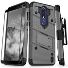 For Cricket NOKIA 3.1 Plus Case with Stand Kickstand ShockProof Hard Phone Cover
