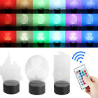 3D LED illusion USB 7Color Change Touch Remote Control Table Night Light Lamp