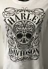 Harley Davidson Womens Keen Skull Short Sleeve T-Shirt White   R003294 $29.0 USD on eBay