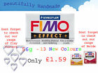 FIMO Effect 56g Polymer Clay 13 New Colours Modelling Jewellery 5.5cm x 5.5cm image