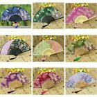 Lady Silk Blend Folding Hand Held Fans Chinese Japanese Blossom Dance Show Chic
