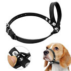 Adjustable Dog Muzzle Leather Dogs Grooming Mouth No Bite Bark Loop Covers S-L