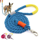 5ft Strong Braided Rope Dog Lead Pet Walking Leash with Soft Handle Pink Blue