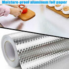 Aluminum Foil Self Adhesive Waterproof Oil-proof Kitchen Cabinet Wall Sticker Us