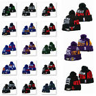 Embroidered All NBA Team Logo Pom Skull Beanie Cap Winter Warm Basketball Hat on eBay