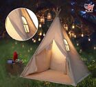 Canvas Children Indian Tent Teepee Play Sleeping Indoor Outdoor Portable House