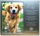 Pet Memorial Personalized Metal 4x6 Picture Frame Gift for Loss of Dogs or Cats.
