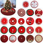 Christmas Tree Skirt Floor Mat Apron Round Carpet Xmas Home Party Decor Ornament