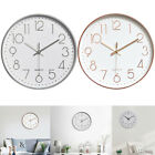 12 Modern Wall Clock Silent Non-Ticking Quartz Battery Operated Decorative Home