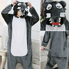 New Style Wolf  kids Adult Flannel Pajamas Onesie216 Cosplay Costume clothing
