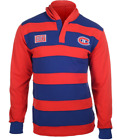 KLEW NHL Men's Montreal Canadiens Striped Rugby Pullover Hoodie, Blue / Red $29.99 USD on eBay
