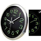 12''Wall Clock 30CM Luminous Glow In The Dark Quartz Bedroom Watch Living Silent