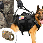 Tactical K9 Training Dog Harness with Bags Military Molle Nylon Vest Adjustable