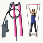 Portable Pilates Bar Stick Fitness Exercise Bar Yoga Gym Stick+ Resistance Band image