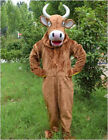 2020 Brown cow Mascot Costume Suits Cosplay Party Game Dress Outfits Clothing Ad